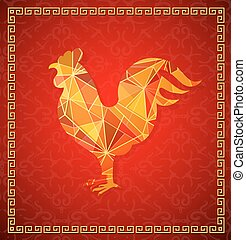 Chinese New Year 2017 Rooster horoscope symbol - Chinese New...