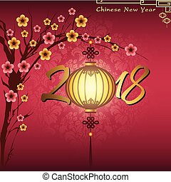 Chinese new year 2018 027 - Abstract chinese new year with...