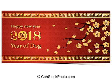 chinese new year 2018 - Chinese new year 2018 greeting card...