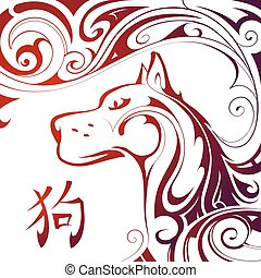 Chinese New Year 2018 Dog horoscope symbol - Dog as a symbol...