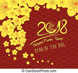 chinese new year 2018 template background