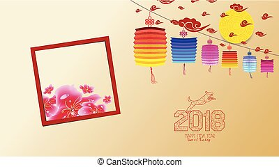 chinese new year 2018 with blossom wallpapers year of the dog hieroglyph dog
