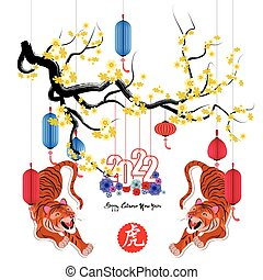 Chinese new year 2022 - year of the Tiger.