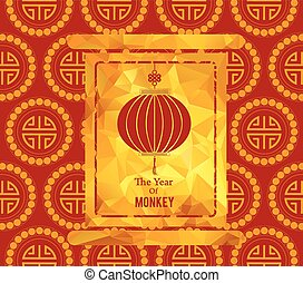 chinese new year card with lantern
