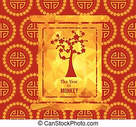 Chinese New Year card with plum