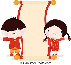 chinese new year celebration of children