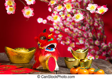 chinese new year decorations ,chinese character symbolizes...