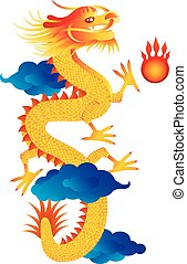 Chinese New Year Dragon Illustration