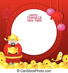 Chinese New Year Frame with God