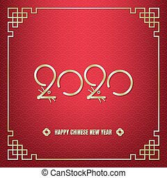 Chinese new year gold 2020 rat