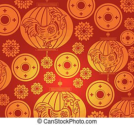 Chinese new year lantern pattern