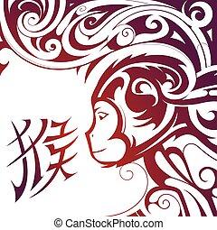 Chinese New Year Monkey symbol