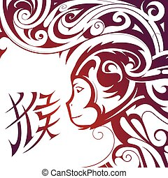 Chinese New Year Monkey symbol - Chinese New Year 2016...