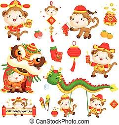 Chinese New Year Monkey Year