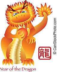 Chinese New Year of the Dragon Zodiac