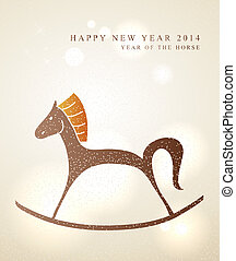 Chinese New Year of the Horse card