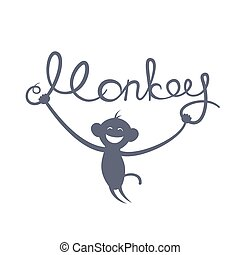 Chinese New Year of the Monkey vector illustration