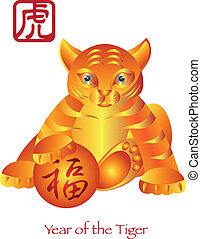 Chinese New Year of the Tiger Zodiac