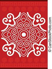 Chinese new year pattern - Red color wallpaper