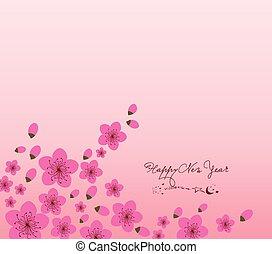 Chinese New Year plum blossom