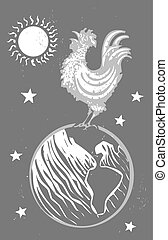 Chinese New Year Rooster in orbit