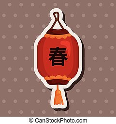 chinese new year theme elements chinese decorative lantern
