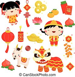 Chinese New Year Vector Set