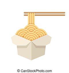 beh lter chinesisches schnell essen nehmen nudeln heraus container eps10. Black Bedroom Furniture Sets. Home Design Ideas