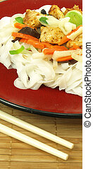 Chinese noodles meal - Close-up of tasty chinese noodles...