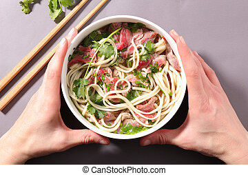 chinese noodles soup