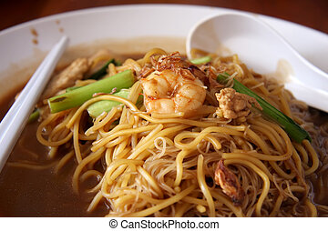 Chinese noodles - Traditional chinese noodles with soy sauce...