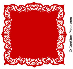 Chinese paper-cut of flower pattern - Chinese traditional...