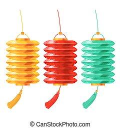 Chinese paper lanterns set