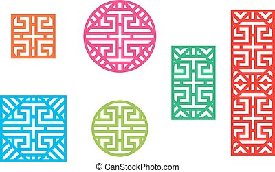 Chinese Fence Design Isolated china fence design fence icon china cultura asia chinese pattern frame for window and fence workwithnaturefo