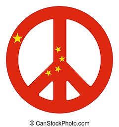 Chinese Peace Pacific Symbol Vector illustration Eps 10