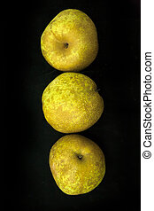 Chinese pears on black