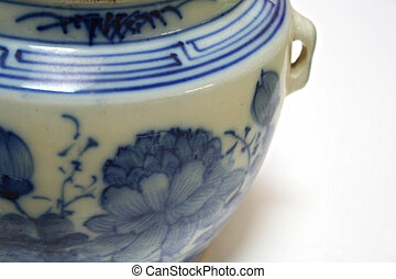 Chinese Porcelain - An antique chinese claypot.