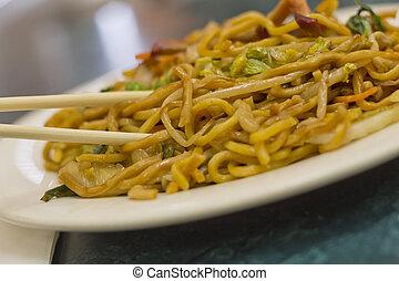 Chinese Pork Lo Mein