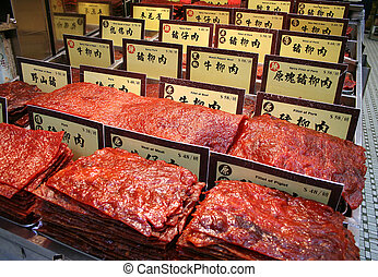 Chinese Preserved Meat - Assortment of Chinese preserved...