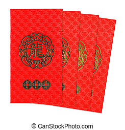 Chinese Red Envelope isolated on white