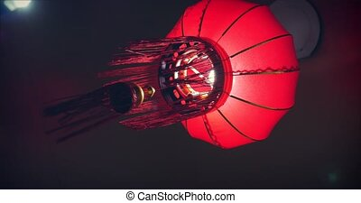 Chinese red lantern for celebrate spring festival.
