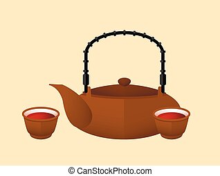 Chinese Red Tea Flat Concept