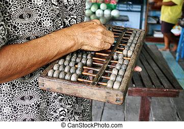 Chinese Retro Calculator. Chinese Ab