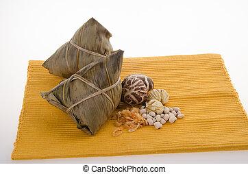 Chinese Rice Dumpling on background. - Chinese Rice Dumpling...