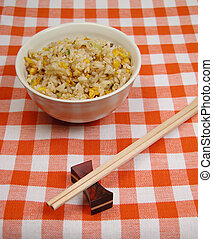 Chinese rice on a table