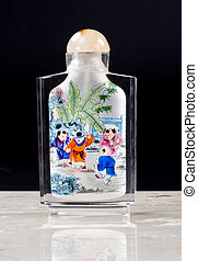 Chinese Rock Crystal Snuff Bottle.
