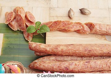 Chinese sausage (Gun-chiang) tasty for cooking