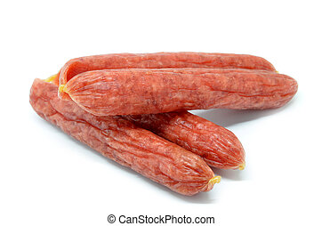Chinese sausage isolated on white background. Chinese food