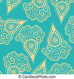 Chinese seamless pattern with paisley.