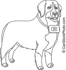 Chinese shar pei dog outline